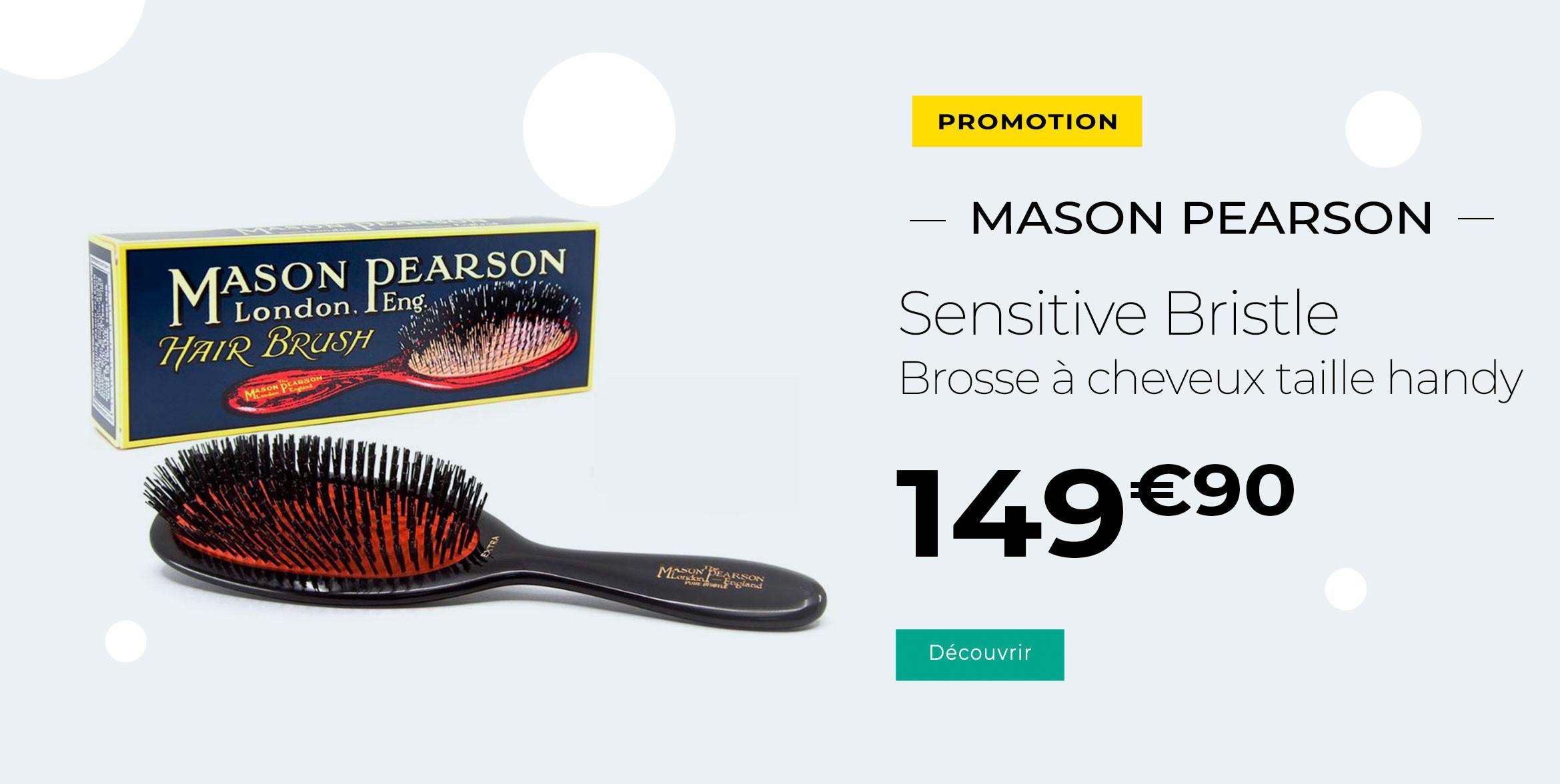 Mason Pearson Sensitive Bristle Brosse A Cheveux Noir Sb3 Taille Handy