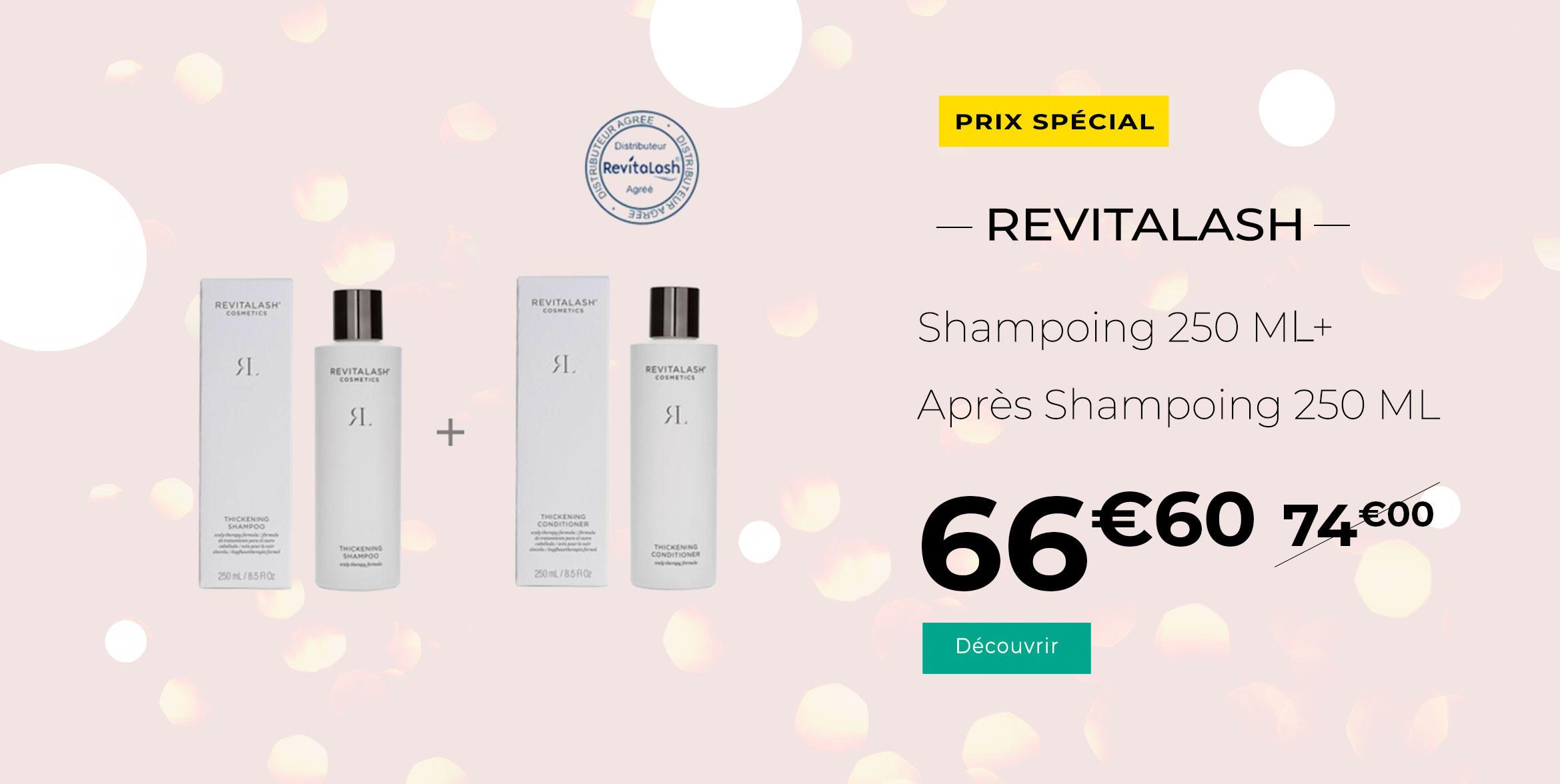 Revitalash pack promo Shampoing + Après Shampoing